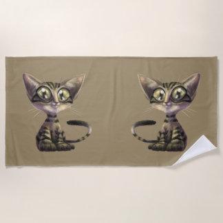 Cute Caricature Cats Beach Towel