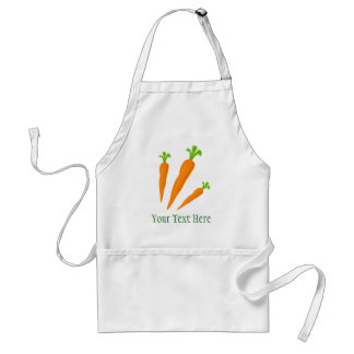Cute carrot vegetable bbq apron for men and women