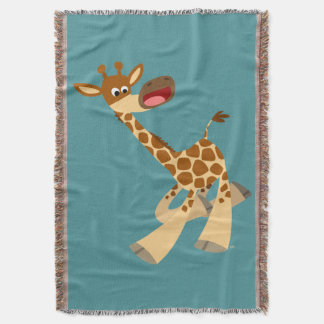 Cute Cartoon Ambling Giraffe