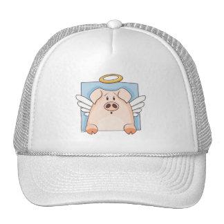 Cute Cartoon Angel Pig Hat Trucker Hat