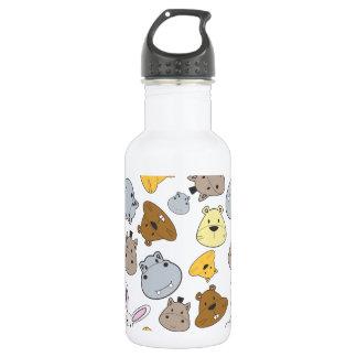 Cute Cartoon Animals Portrait Pattern 532 Ml Water Bottle