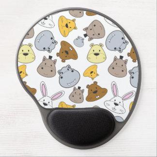Cute Cartoon Animals Portrait Pattern Gel Mouse Pad