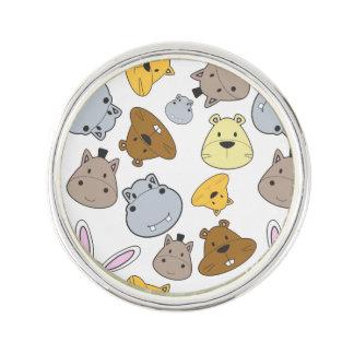 Cute Cartoon Animals Portrait Pattern Lapel Pin