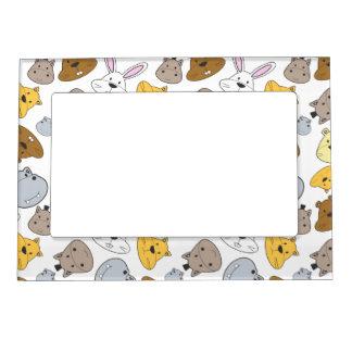 Cute Cartoon Animals Portrait Pattern Magnetic Frame