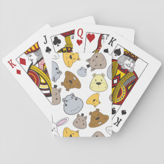 Cute Cartoon Animals Portrait Pattern Playing Cards