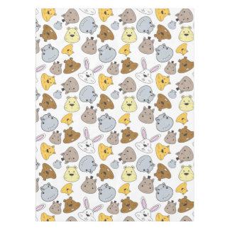 Cute Cartoon Animals Portrait Pattern Tablecloth