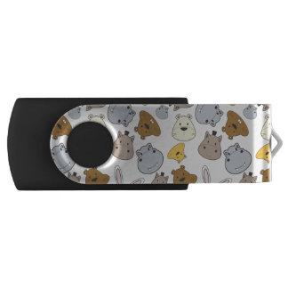 Cute Cartoon Animals Portrait Pattern USB Flash Drive