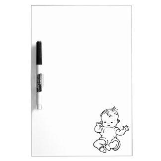 Cute Cartoon Baby Birth Congratulations Dry Erase Board