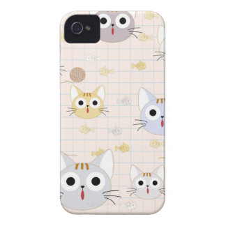 Cute cartoon baby cat kitty kitten charactor funny iPhone 4 cover