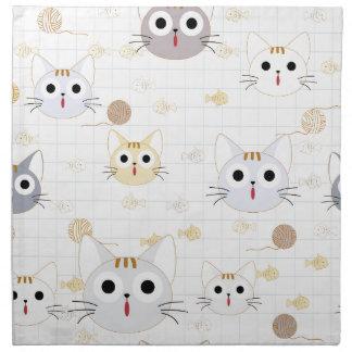 Cute cartoon baby cat kitty kitten charactor funny napkin