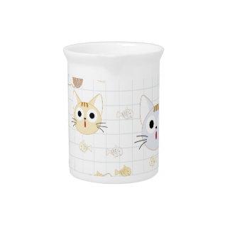 Cute cartoon baby cat kitty kitten charactor funny pitcher