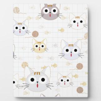Cute cartoon baby cat kitty kitten charactor funny plaque
