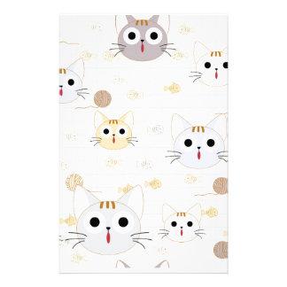 Cute cartoon baby cat kitty kitten charactor funny stationery