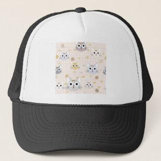 Cute cartoon baby cat kitty kitten charactor funny trucker hat