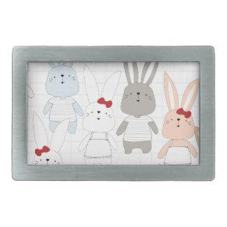 Cute cartoon baby rabbit bunny funny character belt buckle