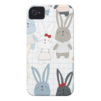 Cute cartoon baby rabbit bunny funny character iPhone 4 case