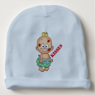 Cute Cartoon Baby with Kissy Lips - Baby Beanie