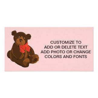 Cute cartoon bear personalised photo card