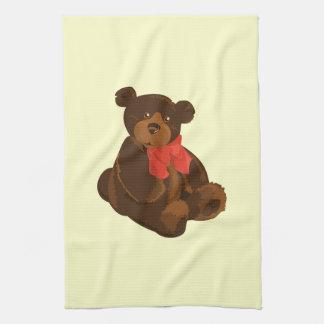Cute cartoon bear tea towel