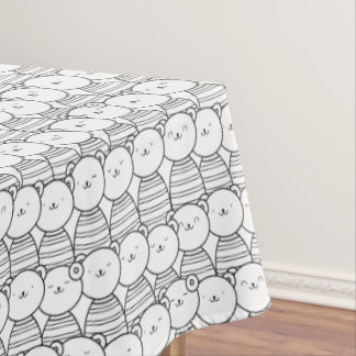Cute cartoon bears pattern tablecloth