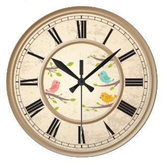 Cute Cartoon Birds Childrens Clocks