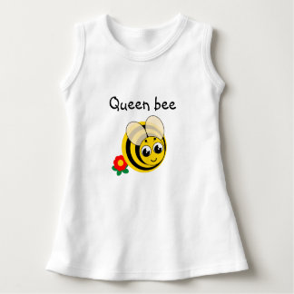 Cute cartoon black and yellow striped bumblebee, dress