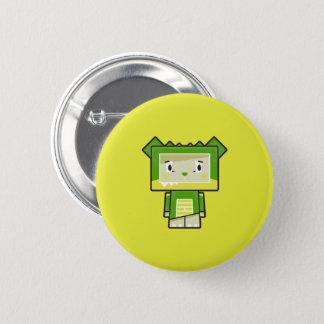 Cute Cartoon Blockimals Crocodile Button Badge