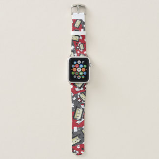 Cute Cartoon Blockimals Ladybird Apple Watch Band