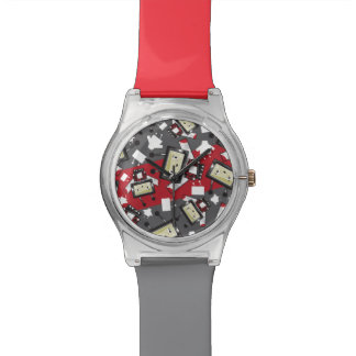 Cute Cartoon Blockimals Ladybird Watch