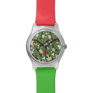 Cute Cartoon Blockimals Reindeer Watch