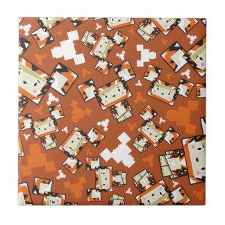 Cute Cartoon Blockimals Tiger Ceramic Tile