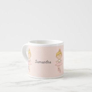 Cute Cartoon Blonde Ballerina Espresso Cup