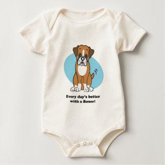 Cute Cartoon Boxer Baby Tee