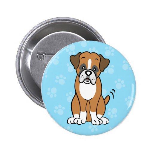 Cute Cartoon Boxer Button