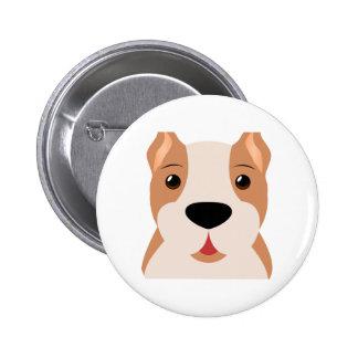 Cute Cartoon Boxer Dog Button