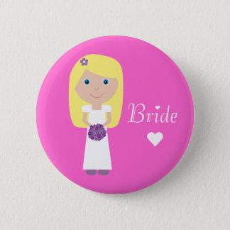 Cute Cartoon Bride 6 Cm Round Badge