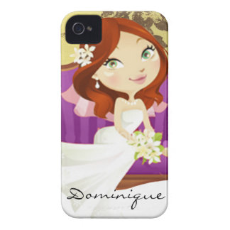Cute Cartoon Bride Case-Mate iPhone 4 Case
