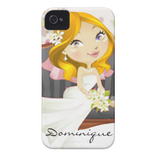 Cute Cartoon Bride iPhone 4 Case-Mate Case