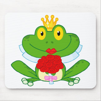 cute cartoon bride froggy frog mouse pad