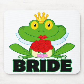 cute cartoon bride froggy frog with text mousepads