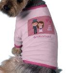 Cute Cartoon Bride & Groom Bridesmaid Dog Sweater