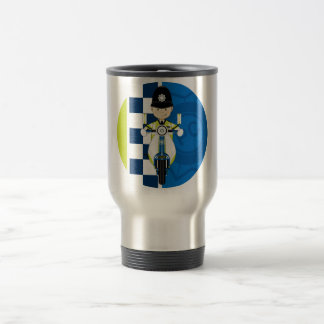 Cute Cartoon British Policeman Travel Mug