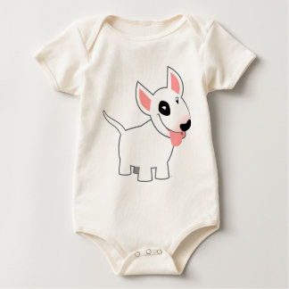 Cute Cartoon Bull Terrier Baby Clothing Baby Bodysuit