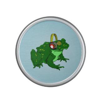 Cute Cartoon Bullfrog Wearing Headphones Speaker