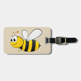 Cute cartoon Bumble Bee Luggage Tag