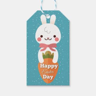 Cute cartoon bunny rabbit easter greetings