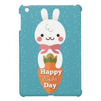 Cute cartoon bunny rabbit easter greetings iPad mini cover
