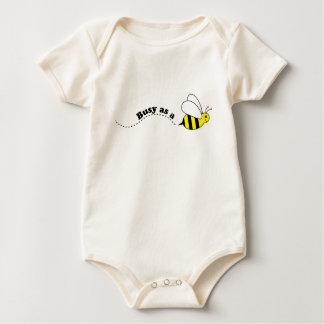 Cute Cartoon Busy Little Bee Baby Bodysuit