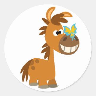 Cute Cartoon Butterfly Pony Sticker