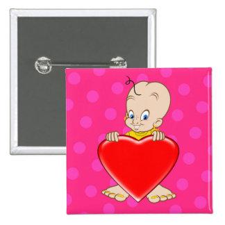 Cute cartoon button